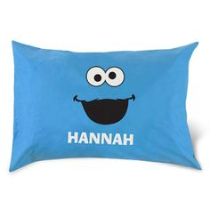 Personalized Cookie Monster Pillow Case! I NEED this!
