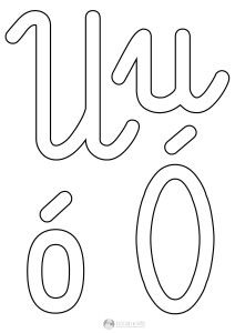 szablon liter U u Ó ó
