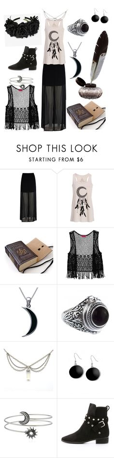 """""""The dark moon witch"""" by samanthapina-1 ❤ liked on Polyvore featuring Mela Loves London, Boohoo, Carolina Glamour Collection, Karen Kane and See by Chloé"""