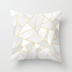 White Stone Throw Pillow, $20.00