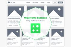 4 Easily Customizable Mobile and Desktop Wireframe Patterns - 50% off!
