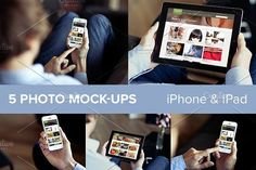iPhone & iPad PSD mockups by show it better on @creativemarket