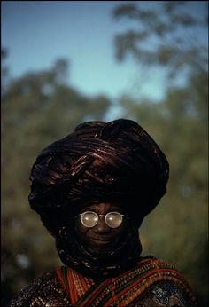 Africa | A personal guard of the Emir of Kano. Kano, Nigeria. 1974. |  © Bruno Barbey