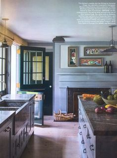 Grey kitchen walls grey kitchen cabinets yellow walls gray kitchen walls with white cabinets gray kitchen Gray Kitchen Countertops, Grey Kitchen Walls, Modern Grey Kitchen, Grey Kitchen Cabinets, Grey Kitchens, Home Kitchens, White Cabinets, Soapstone Counters, Kitchen Backsplash
