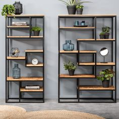 Bookcase Kyan - large and small - Bookshelf Decor - Smokey Eye Make Up - Golden Necklace - DIY Hairstyles Long - DIY Interior Design Home Bar Furniture, Metal Furniture, Furniture Design, Victorian Furniture, Furniture Stores, Rustic Furniture, Furniture Ideas, Industrial Design Furniture, Wood Bedroom Furniture