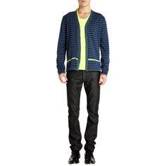 Jil Sander Striped Cardigan at Barneys.com