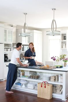 Corner Ovens Overhead Cabinets On One Side Window On The