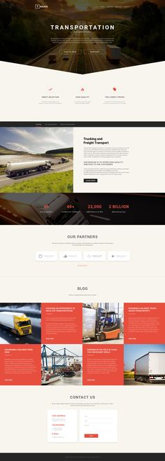 Website Theme , Transportation