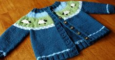 Sheep Yoke Baby Cardigan    This knit pattern is available as a free download...     Download Pattern:  Sheep Yoke Baby Cardigan