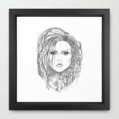 Deborah (Debbie) Harry of Blondie Framed Art Print by Francesco Carli - $34.00