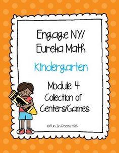 Module 4 - Eureka Math / Engage New York math curriculum - games/centers