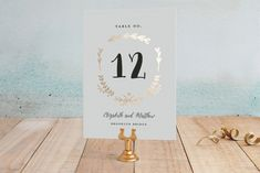 Always Foil-Pressed Wedding Table Numbers by Susan Brown at minted.com