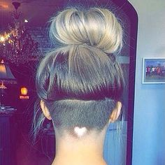 Take your undercut for women to the next level with a hair design. Nothing is cuter than a heart-shaped hair design. Check out these pics to get the look.