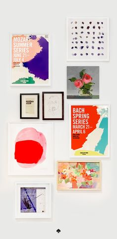 introducing wall decor! photography, paintings, sketches, beautiful typography and more, for walls big and small. created and curated exclusively by kate spade new york.