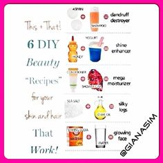 "☆  Beauty ""Recipe's""  ☆"