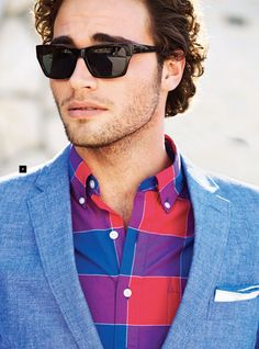 Blue blazer is a big thing in Spring & Summer 2013. Follow Sneak Outfitters for the latest trend reports on men's fashion. www.sneakoutfitters.com