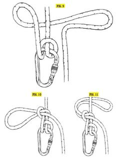 """Munter-Mule-Overhand (MMO) This knot is key to getting """"hands free"""" on a belay, meaning you've tied off your climber so you can take your hand off the brake end of the rope. It builds off the Munter hitch, so a correctly tied Munter is the first step. Survival Knots, Survival Prepping, Survival Skills, Paracord Knots, Rope Knots, Bushcraft, Climbing Technique, Beaded Beads, The Knot"""