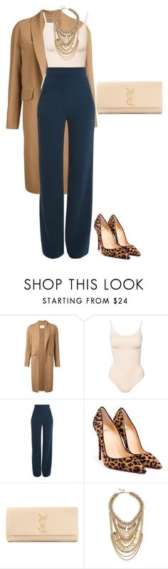 leopard shoes outfit A fashion look from October 2015 by featuring Alexander Wang, Cushnie Et Ochs, Christian Louboutin, Yves Saint Laurent and Lulu*s Fashion Mode, Work Fashion, Fashion Looks, Womens Fashion, Fashion Trends, Trendy Fashion, Trendy Style, Mode Outfits, Fall Outfits