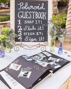 Take the traditional guest book and step it up a notch!