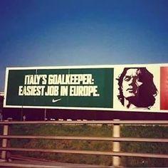 Italy's goalkeeper: easiest job in europe   Nike   Maldini   Milan