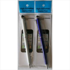 Touch Screen 2 in 1 Pen and stylus pen for Smart phones Tablets White/Dark Blue on eBid United Kingdom £1.99