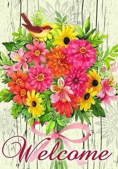 . Welcome Pictures, Welcome Images, Outdoor Flags, Decoupage Paper, Projects To Try, Banner, Stationery, Bouquet, Clip Art