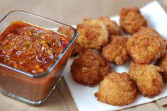 Congo-  Akara with Dipping Sauce (Bean Fritters)