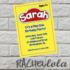 Play-Doh Birthday Party Invitation, Do-it-yourself, printable, digital