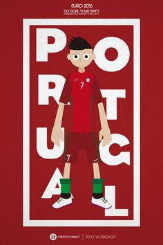 UEFA Euro 2016 Go Goal Your Team Character Poster - Portugal #Portugal #euro2016 #EURO16
