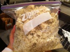 DIY frozen hash browns (bake, cool, refrigerate overnight, shred, freeze)