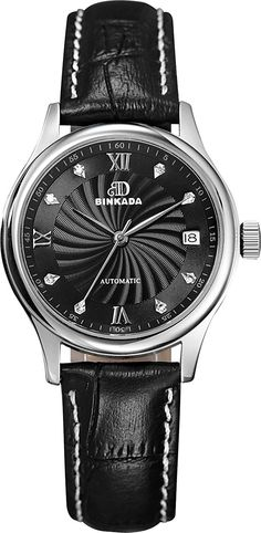 BINKADA 3 Pointer Automatic Mechanical Black Dial Women's Watch no.7001W04-2 * New and awesome product awaits you, Read it now  (This is an amazon affiliate link. I may earn commission from it)