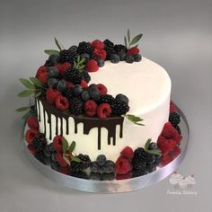 90th Birthday Cakes, Fruit Birthday Cake, Creative Birthday Cakes, Birthday Cake For Mom, Elegant Birthday Cakes, Beautiful Birthday Cakes, Cake Decorated With Fruit, Fruit Cake Design, Cake For Husband