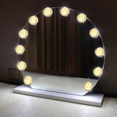 Led Makeup Vanity Light Dressing Table Hollywood Mirror Cosmetic 6 10 14 Bulbs 12v Stepless Dimmable Led Wall Lamp Decoration Packing Of Nominated Brand Lights & Lighting