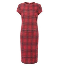 1a02bd9684 Team this check midi dress with black ankle boots