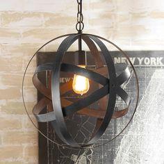 Metal Strap Globe Lantern - Small