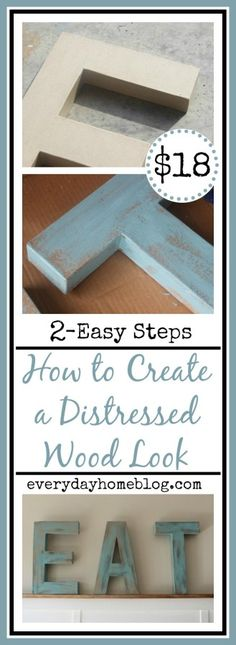 How to Paint a Distressed Wood Look-from The Everyday Home