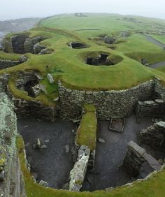 Jarlshof archaeological site. Shetland, Scotland.