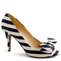 black and white striped pumps.  kind of 80's tastic.  kind of great.