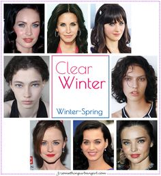Clear Winter, Winter-Spring seasonal color celebrities by 30somethingurbangirl.com /