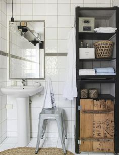 industrial style white tiles