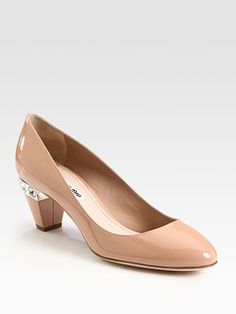 Miu Miu  Patent Leather Jewel-heel pumps  love everything about this shoe (except the price)!