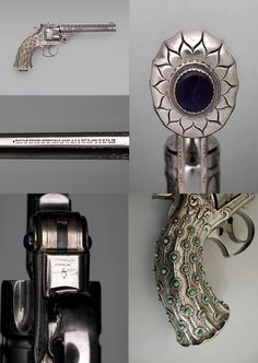 "Smith and Wesson New Model No. 3, .44 Caliber Double-Action Navy Revolver, serial no. 23060  Smith & Wesson (American, established 1852) , gorgeous gun as the decorator  of this gun was  ""Tiffany & Co,"" ca. 1891–92."