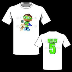 Super Why Boy Personalized T-Shirt Super Why Party, Super Why Birthday, 3rd Birthday, Birthday Ideas, Birthday Parties, Party Favor Bags, Goodie Bags, Camo Diaper Cake, Bag Toppers