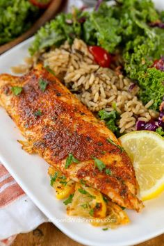 Blackened Tilapia - This is a delicious tilapia recipe that is on the table in u. Blackened Tilapia - This is a delicious tilapia recipe that is on the table in under 10 minutes! Perfect for a quick weeknight meal or tilapia fish ta. Salmon Recipes, Fish Recipes, Seafood Recipes, Cooking Recipes, Healthy Recipes, Baked Tilapia Recipes, Duck Recipes, Baked Fish, Orange Recipes