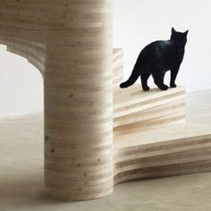 Risa spiral staircase by Tron Meyer  features fanning timber steps