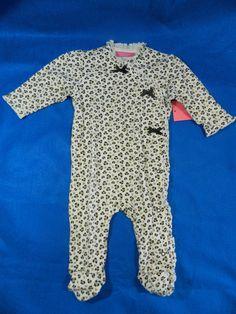 Isaac Mizrahi Baby 6 Months One Piece White Leopard Footsie New #IsaacMizrahi #Everyday