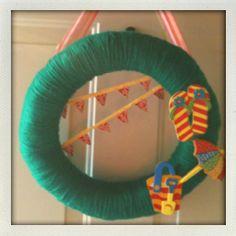 tropical themed summer wreath #wreath #summer #beach