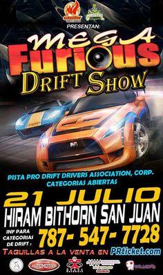 Mega Furious Drift Show @ Estadio Hiram Bithorn, Hato Rey #sondeaquipr #megafuriousdriftshow #estadiohirambithorn #fiebre #autos #drift