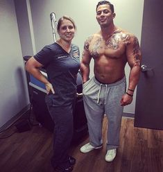 Our nurse Hillary & Ryan post treatment 3! Great progress and great frosting…