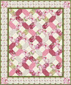 Rose Cottage Quilt Pattern. Enjoy this free quilt pattern, Rose Cottage.